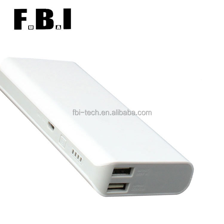 hot sale Micro USB White 5V 1A CE ROHS FCC Certification ABS PC 13000mah Li-ion battery power bank for Smart Phone