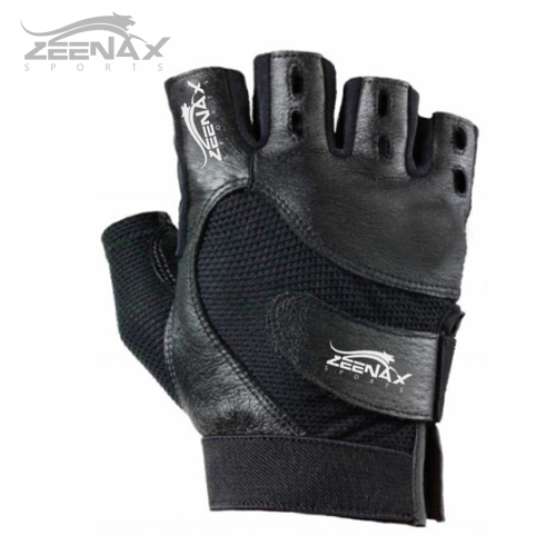Leather Weight Lifting Work Out Gym Gloves