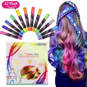 Color Chalk Set, Metallic Glitter Temporary Hair Color pen