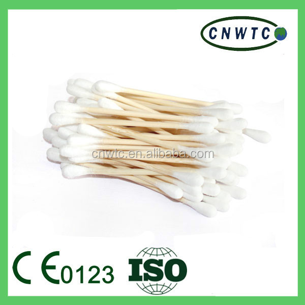 disposable bamboo cotton swabs for ear cleaner