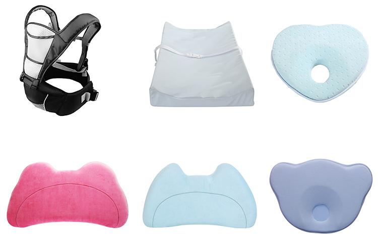 新設計耐久性のある有機刺激送料新生児ヘッド整形サポート枕低反発枕