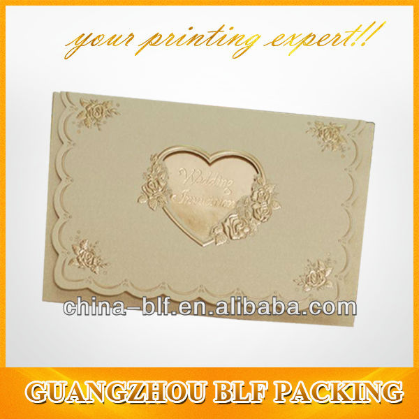 heart shape greeting card(BLF-GC019)