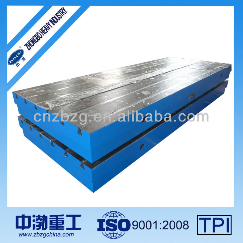 Precision Cast Iron Surface Plate With T-slots, HT200-300 / QT500