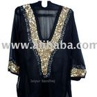 Beautiful Black Embellished Kurti Tunic Tops Sequins Embroidered Short Kurti Tunics Tops Very Beautiful Beachwear Kaftan Tunics