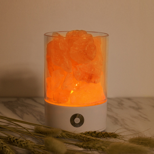 Himalayan Salt Lamps Natural Pink Crystal Salt LED Night Light USB Himilian Rock Salt Lamp