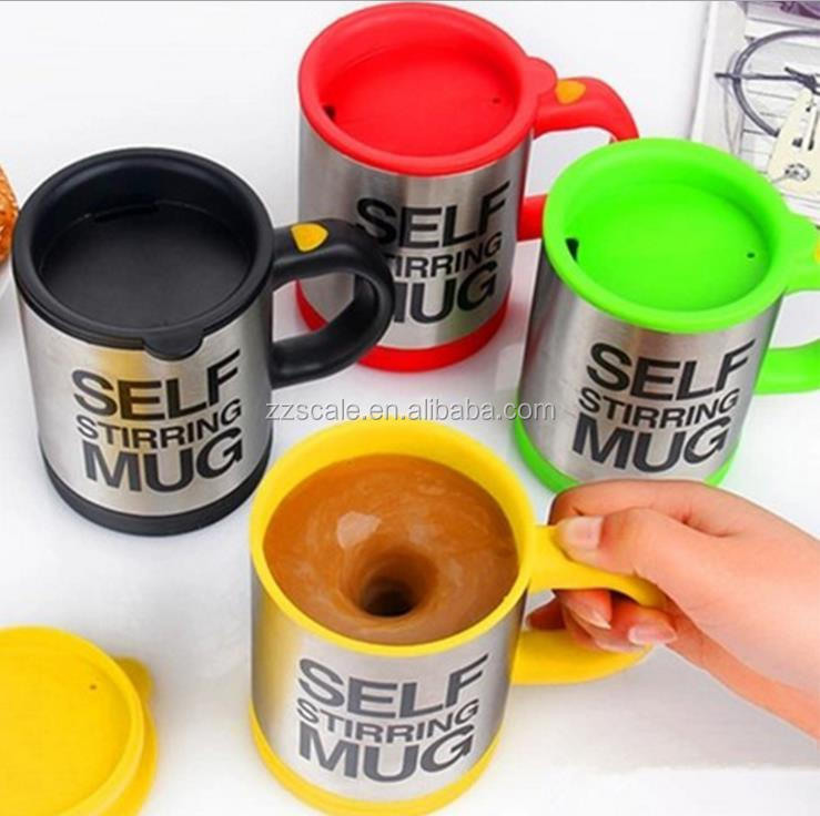 Wholesale Automatic Coffee Mixing Cup Stainless Steel Self Stirring Electric Coffee Mug