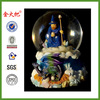 Dragon with Wizard and Castle Snow Globe Sculptured Resin Water Ball Music Box