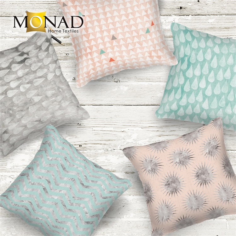 Monad custom latest design geometric decorative cushion pillow covers