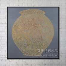 Traditional ancient handicraft vigorous grand enamel painting