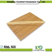 Lovely shaped nature bamboo cutting board for vegetable
