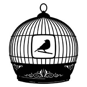 Bird Cage Modern Mobile in Grey