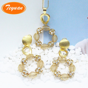 2018 New Dubai Jewellery 1 One Gram Gold Jewelry Ethiopian 24k Solid Set