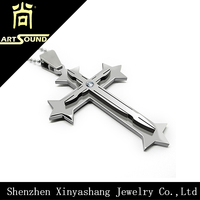 High Quality Mens 316L Stainless Steel Cross Pendant Chains
