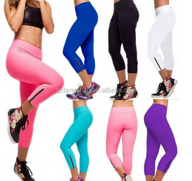 b41fbb16f3a120 Factory OEM wholesale women sport leggings black blue stretchable cotton  lycra leggings sport fittness sexy yoga leggings