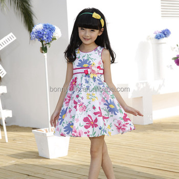 1dcaedcc916 High-rise Printed Kids Summer Wear,Latest Children Frocks Designs Casual  Dresses