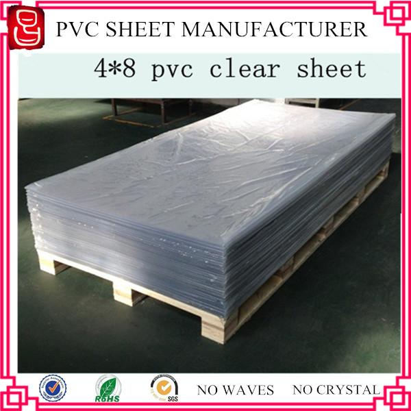 With Pe Film Transparent Pvc Sheets 4x8 Vinyl Sheets Non