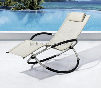 Hot Sale Outdoor Patio Aluminium Foldable Rocking Chair, KD