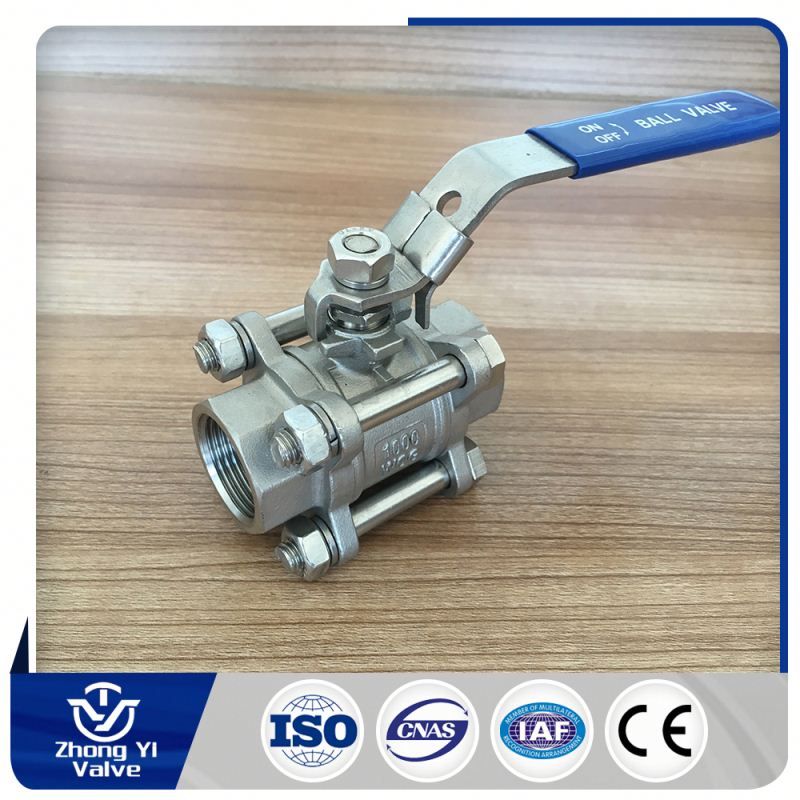 Professional Factory thread 3pc water pump ball valve import from china
