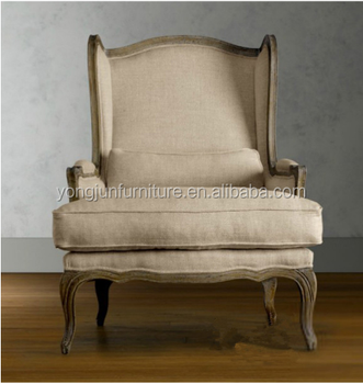 2015 French Wooden Louis Sofa Chair,louis Style Armchair,louis Xiv Chair  Fabric Antique