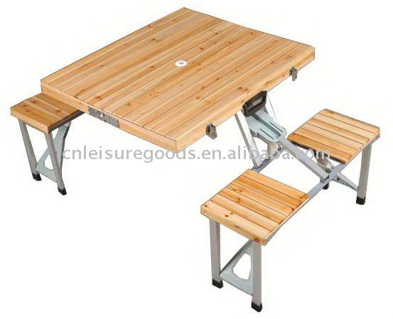 Camping en plein air pliage en bois table de pique nique table pliante id de produit 471780659 - Table picnic pliante decathlon ...