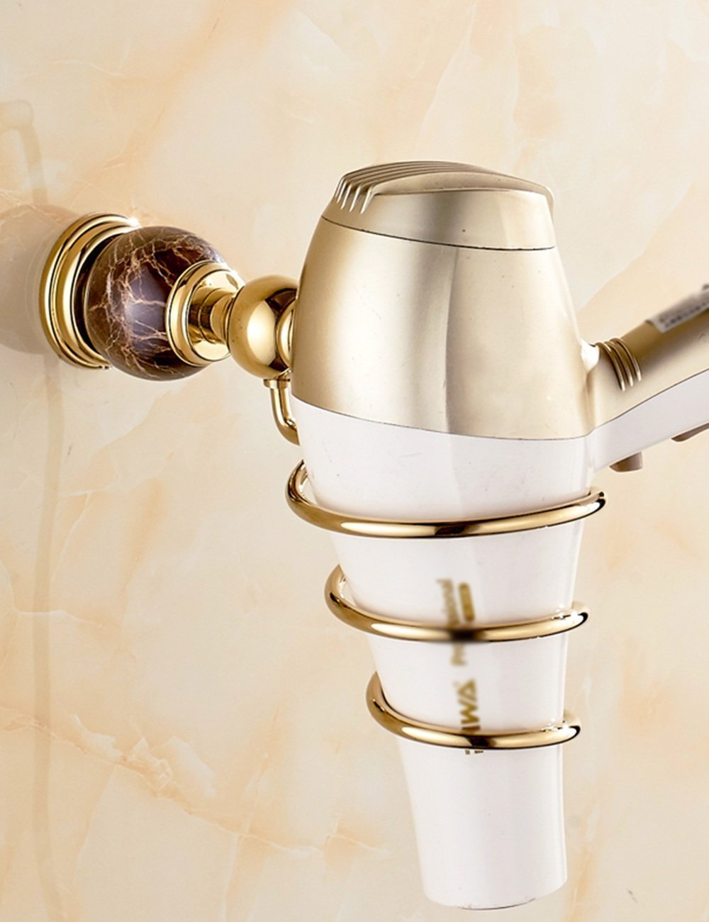 Hairdryer hairdryer copper pylons Europe style in the rack chassis hairdryer hairdryer pink gold ( Color: 1 , Size: A )