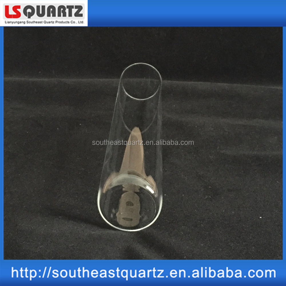 Quartz Test tube with graduation and glass stopper