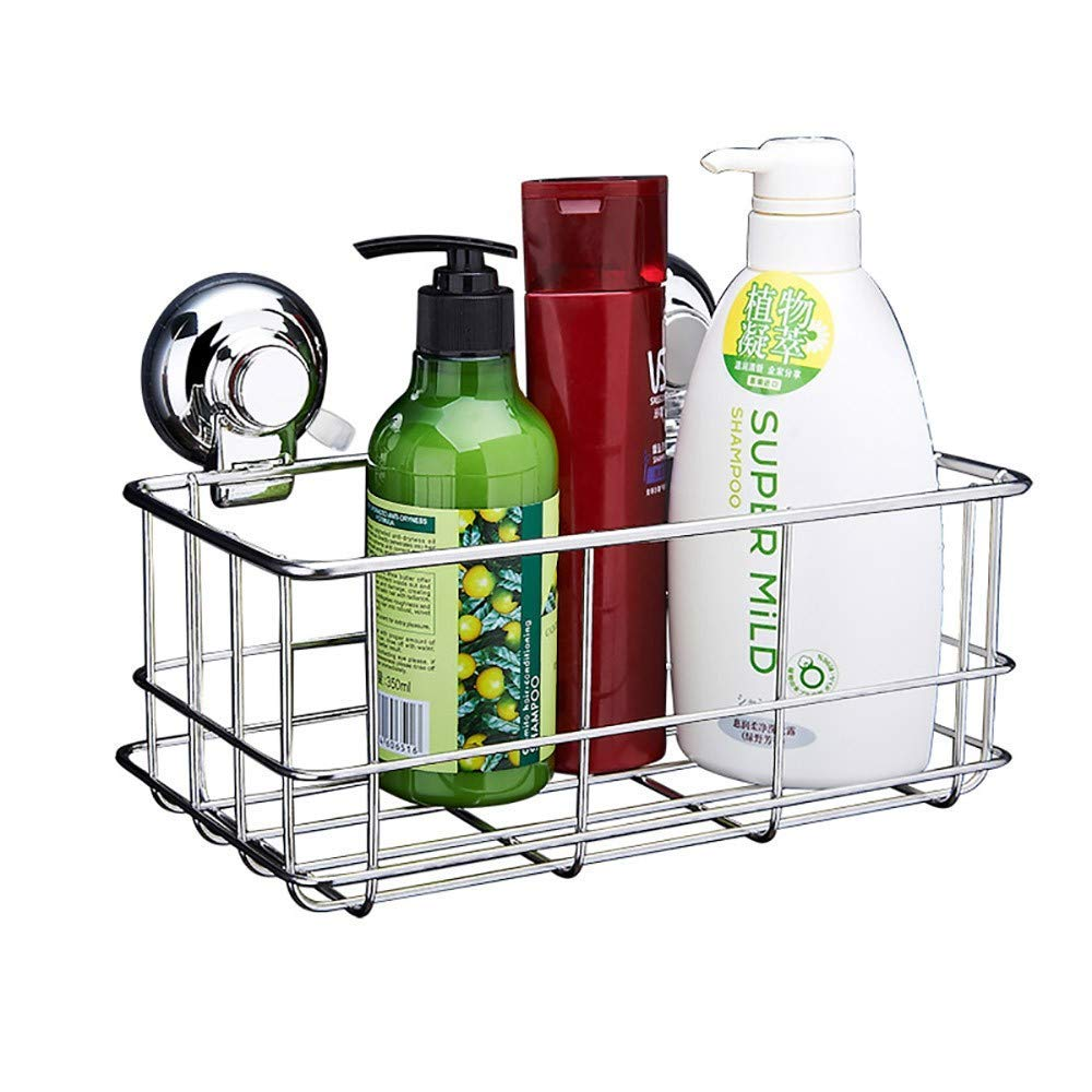 Bathroom shelf Kitchen bathroom bathroom shelf stainless steel suction cup storage shelf
