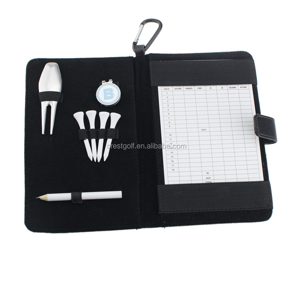 Golf Gift Scorecard Holder with Accessories Pencil with eraser OEM