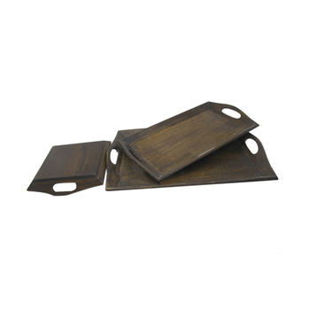 New designs display wood rectangle serving tray