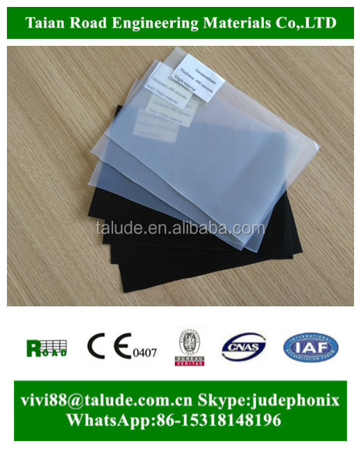 ASTM HDPE Geomembrane pond liner 1.5mm thickness