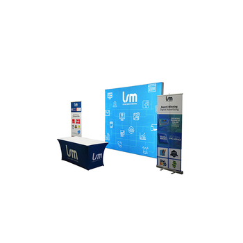 Hot sales custom portable advertising aluminum trade show exhibition booth wall design tension fabric backdrop display