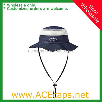 Custom Full Brim 100% Nylon Men Women Bucket Hat With String ... 990b1854bbc