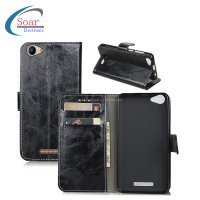 leather slim card slot holder wallet flip cell phone covers case for BQ 5059 Strick power