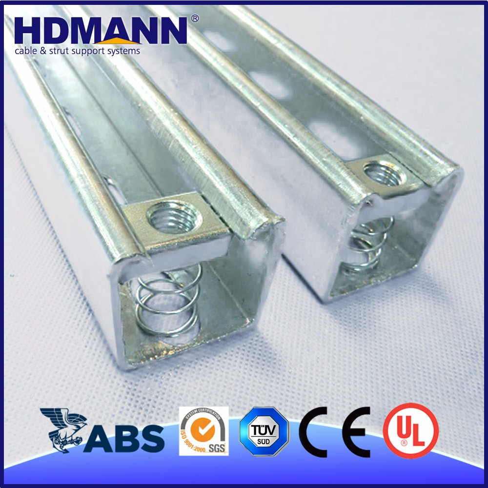 Outdoor hot dip galvanized angle steel Slotted Channel with CE, SGS, UL Certificates