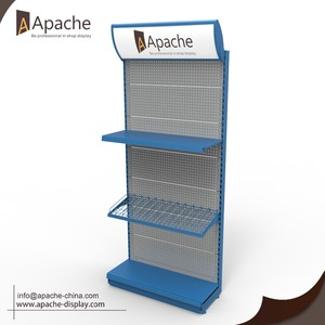 Retail Display Stand with LED logo header