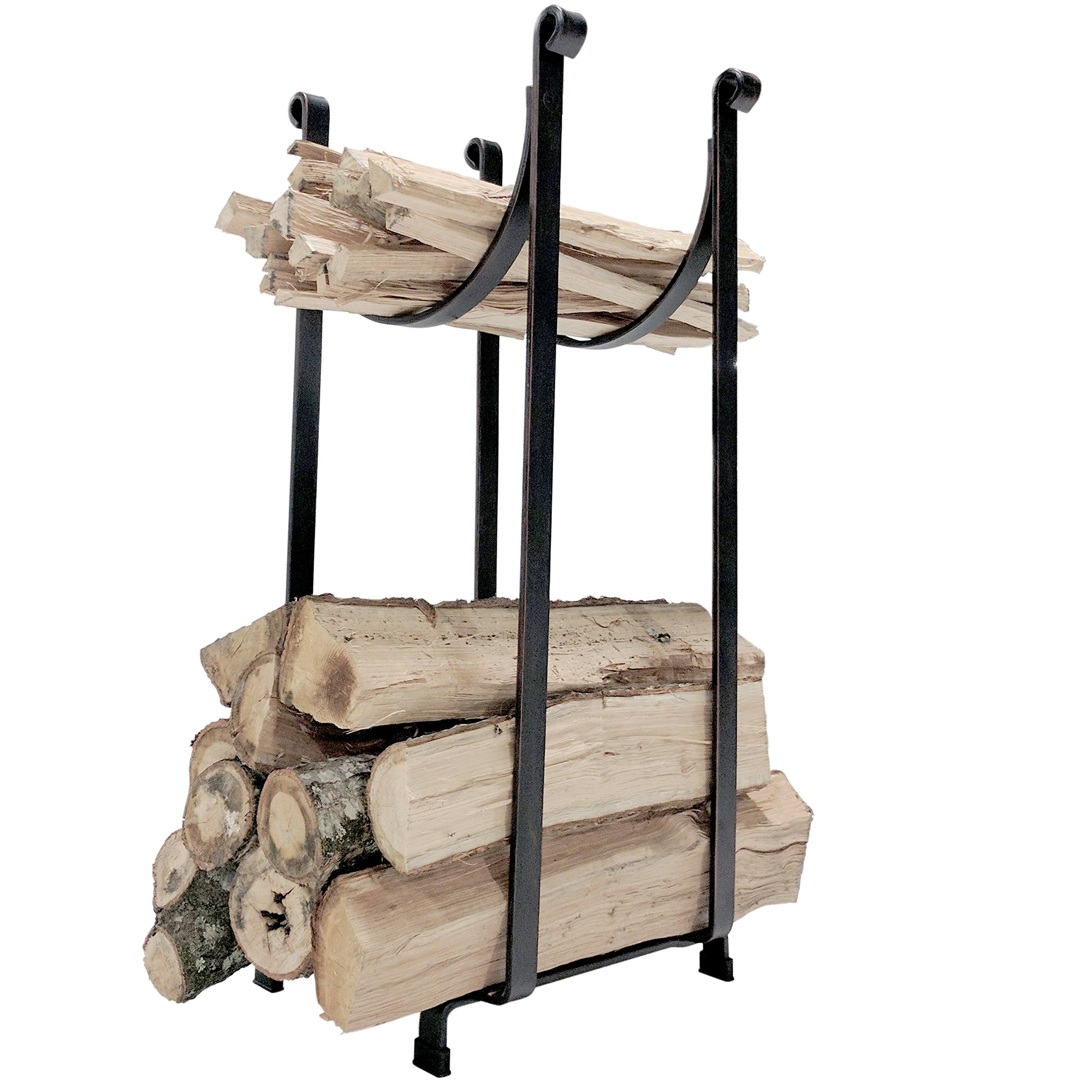 "Titan Steel Sling Hearth Firewood Log Rack Storage Holder 22"" H x 14"" L"