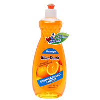 household product household cleansers dish washing liquid dishwashing liquid detergent with Orange scent 600ml