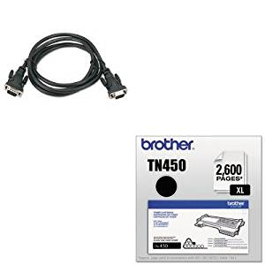 KITBLKF3H98206BRTTN450 - Value Kit - Belkin Pro Series High-Integrity VGA/SVGA Monitor Cable (BLKF3H98206) and Brother TN450 TN-450 High-Yield Toner (BRTTN450)