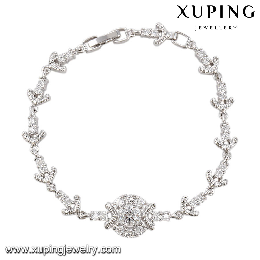 74348 Xuping fashion personalized design wholesale price arrow charming zircon bracelets