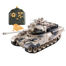 high quality plastic shooting gun rc toys 1/18 remote control tank for kids