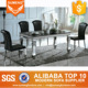 long artificial marble 6 seater philippine luxury designs dining table set