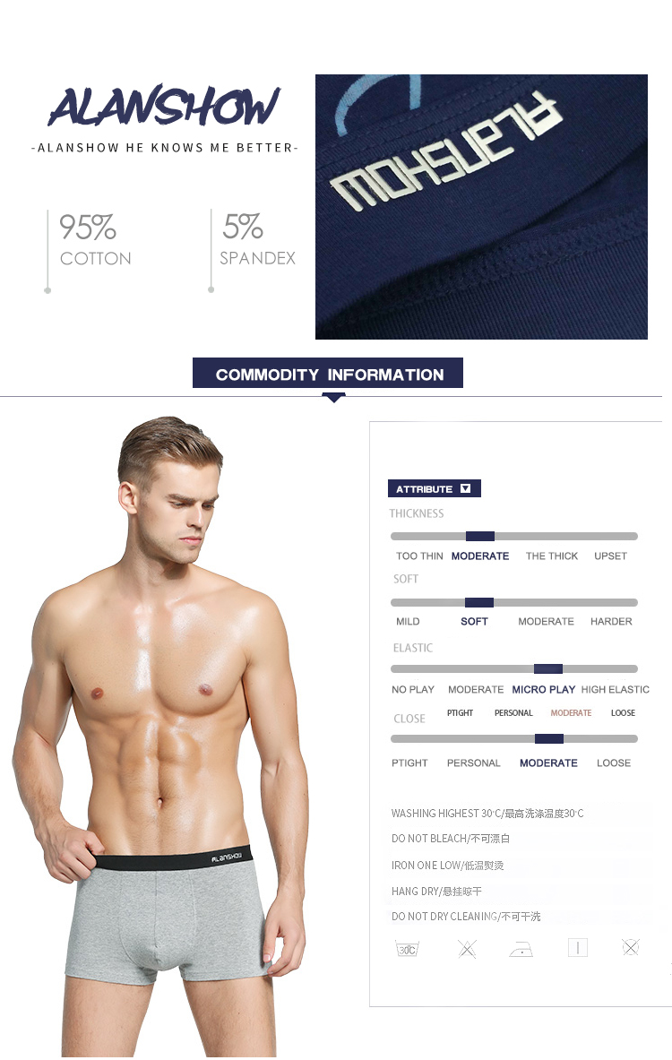 Super Special Offers Available high quality cotton men's boxer underwear