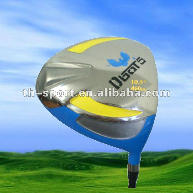 Colorful golf driver with many kinds of design