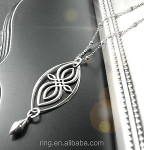 Vampire Diaries Necklace Sterling Silver Celtic Knot Infinity Necklace for Women