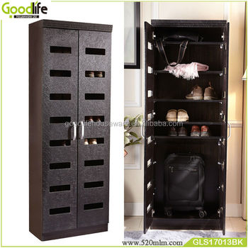 living room mdf storage cabinet wardrobe with shoe rack