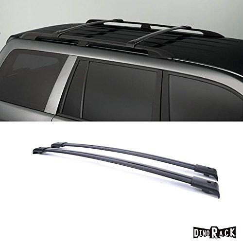 DINORACK 2pcs Black Aircraft Aluminum Aftermarket Roof Rack Cross Bars + Brackets + Mounting Hardwares Fit 03-08 Honda Pilot