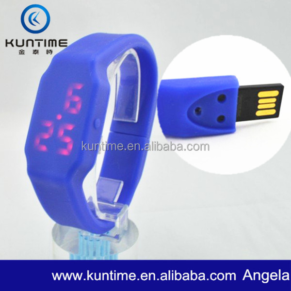USB storage Watch With Removable Movement