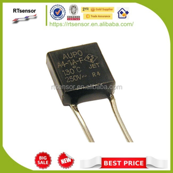 AUPO Radial 1A Rated Current Thermal Cutoff Fuse , 250V Voltage Leaded Thermal Cutoff Switch A1-1A-F 102C