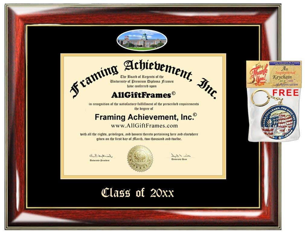 AllGiftFrames Custom Diploma Frame Embossed Towson University College Best Graduation Degree Frame Double Towson Campus Fisheye Picture Frame Cheap Degree Graduate Gift