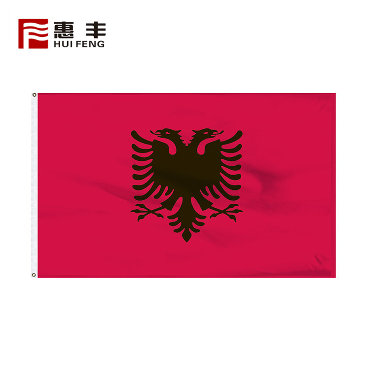 Top Selling High End Double Side Albania Country Flag Custom